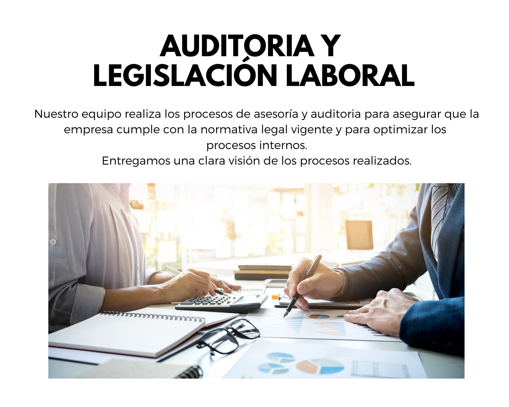 Auditoria y Legislación Laboral.