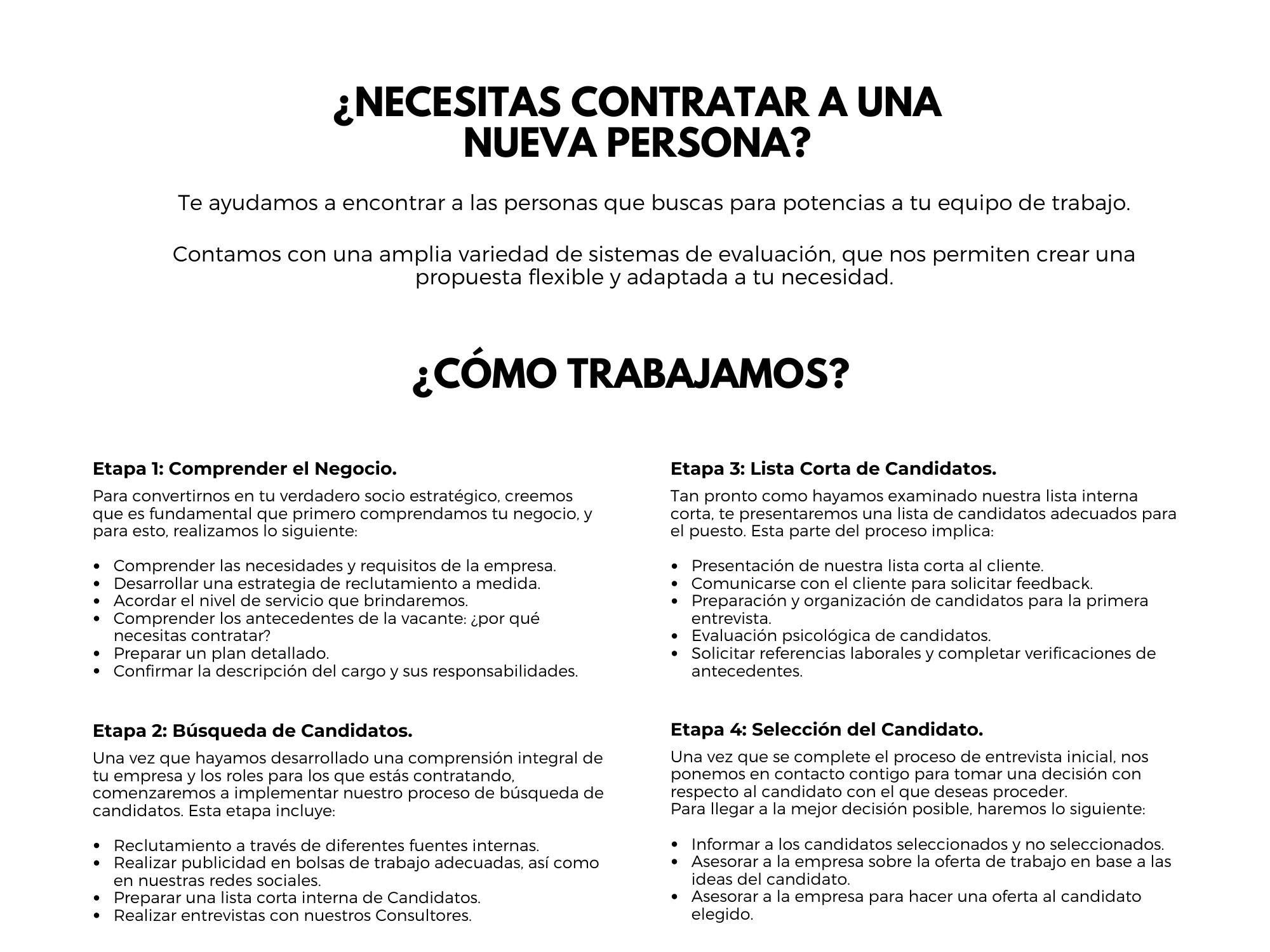 ¿Necesitas Contratar a una Nueva Persona?